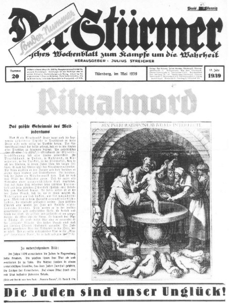 Stürmer-Hetze gegen Juden